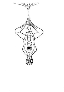 Spiderman: line art by Justicity-Comics