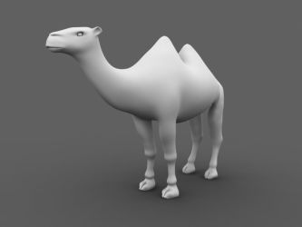 Bactrian Camel Model by scarlettfoxx