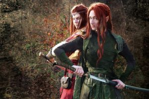 Maedhros and Gonvala~ by ElverynelCreations