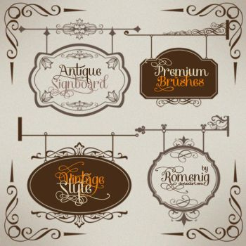 Antique Signboard Premium Brushes by Romenig