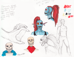 Sketches to Practical mythology by FioreValentine