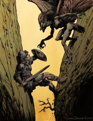 Vulture Harpy Attack by thomden