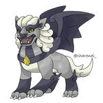 Chinese gargoyle fakemon 3 (commission) by Charenel