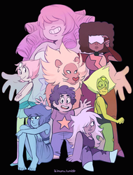 We are the Crystal Gems! by ikimaru-art