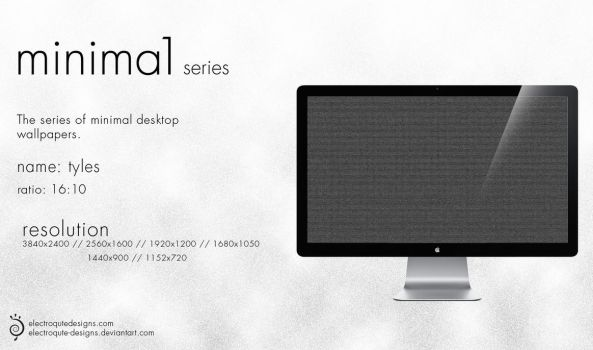 minima1 series - tyles by electroqute-designs