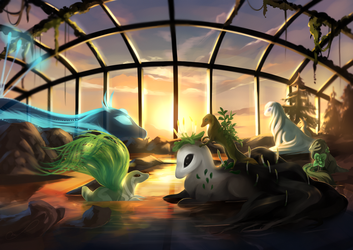 Sunset at the Conservatory by Martith