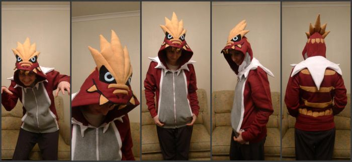 Tyrantrum Hoodie by TrafficConeCreations