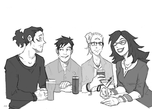 Dinner with Friends by BlitheFool