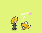 Roxas and Tails by Faezza