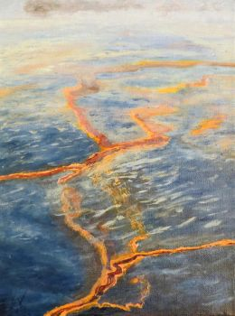 Gulf Oil Spill On Canvas by ShockDr