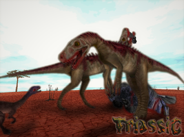 Carnivores Triassic : Herrerasaurus dinner by Keegz97