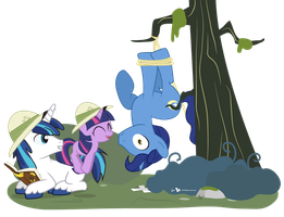 Yay! We Caught a Wood Sprite! by dm29