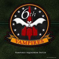 BSG Vampires Squadron Patch by vectorgeek