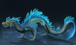 Water Dragon by ArtKitt-Creations