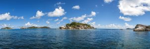 Panorama of Seychelles, Coco island by fly10