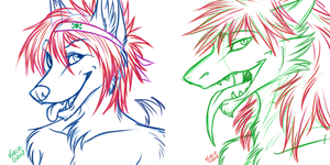 Recca - Bust Sketch Commissions by kcravenyote