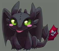 HTTYD - Toothless chibi by AT-Studio