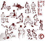 Live Gesture Drawings May 2016 by ameoname
