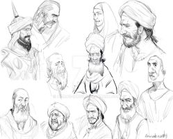 historical sketches by ahmad-nady
