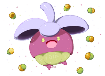 Shiny Bounsweet by Willow-Pendragon