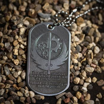 Fallout Brotherhood of Steel pendant by TimforShade
