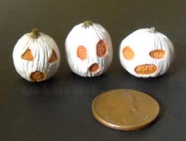 White Jack-O-Lantern Trio by Kyle-Lefort