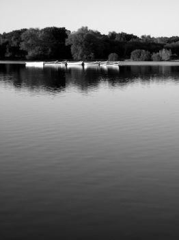 Boats in Black and White by JenCarpeDiem