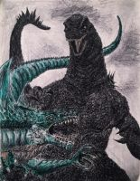 My version of Godzilla vs Zilla. by Kongzilla2010