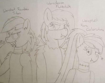 (Request) My Little Wereponies  by SweetiePie17