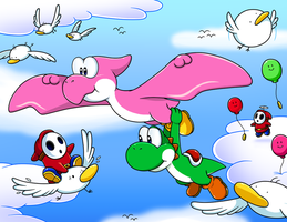 Commish: I wanna fly high by Nintendrawer