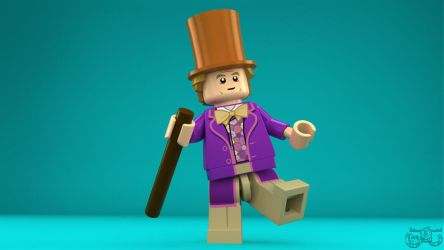 LEGO Minifigure - Willy Wonka by Concore