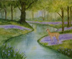 Doe and Bluebells by Crystalheart9