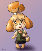 Cute Puppy Isabelle by DirenKei