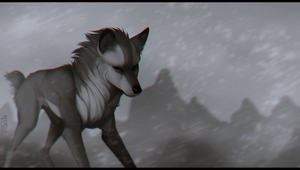 through the storm by Akirow