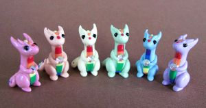 Rainbow Dragon Minis by DragonsAndBeasties