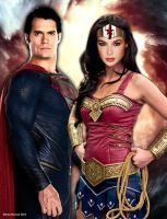 The Man of Steel and the Amazing Amazon by renstar71