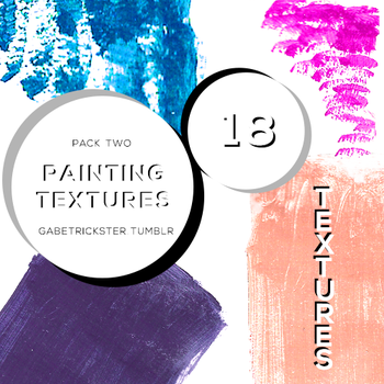 Pack 2 - Painting Textures by gabetrickster by gabetrickster