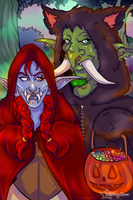 Halloween Commission: Red Riding Trolls by Musing-Zero