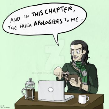 In which Loki owns a ferret and writes fanfiction. by MsBehavior