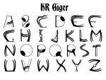 HR Giger Style Font Design by refusecollector