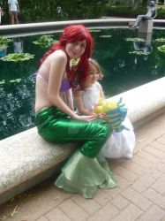 Ariel and the Little Princess by inaligrimalkin
