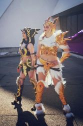 Valkyrie Umbreon and Jolteon Cosplay by BabyGirlFallenAngel