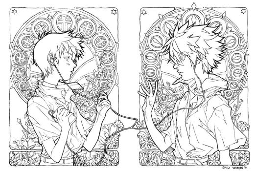 Mucha Kawoshin Inks by emilywarrenart