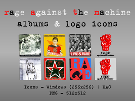 R.A.T.M. Albuns and Logo Icons by guemor