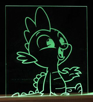 My Little Pony Spike LED Picture by steeph-k