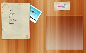 KandiArt Web 2.0 layout sample by kandiart