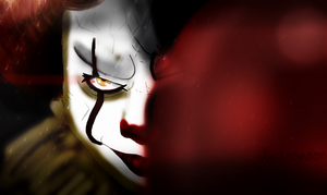 Pennywise the Clown IT 2017 Fanart PAINT VERSION by Amanomoon