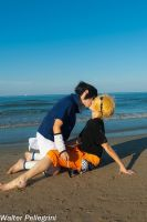 SasuNaru at the beach (fanservice video) by Smexy-Boy