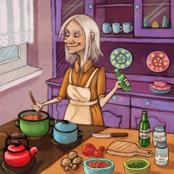 Witch cooking potion by nena211