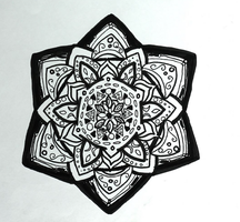 Dodecahedron Flower Mandala by allysorge